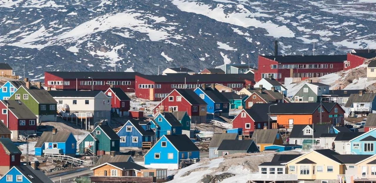 Houses in Ilulissat in Greenland