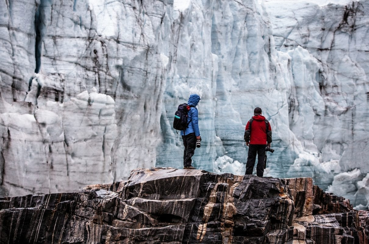 Two Photographers On A Photo Tour By The Russell Glacier In Greenland - Mads Pihl