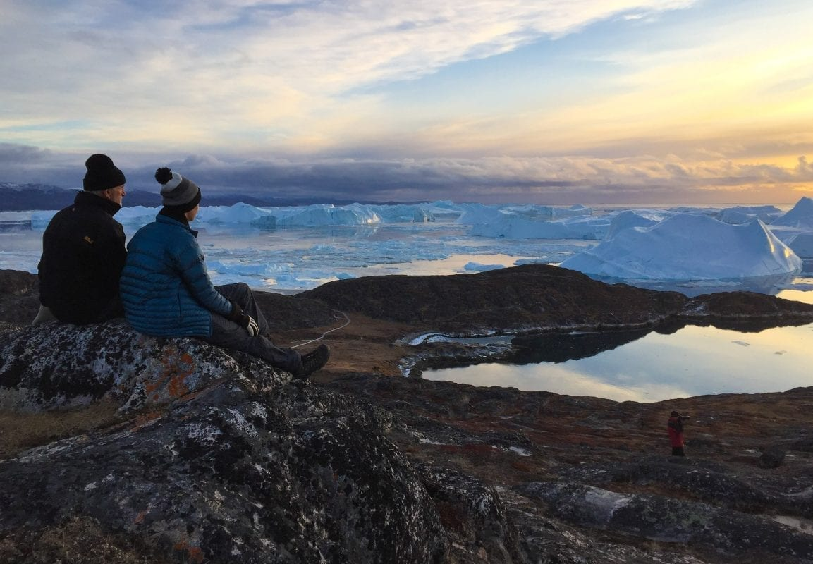 Looking out over the beautiful nature in Greenland