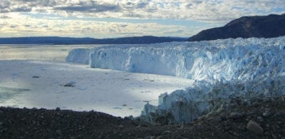 The glacier near Eqi in Greenland