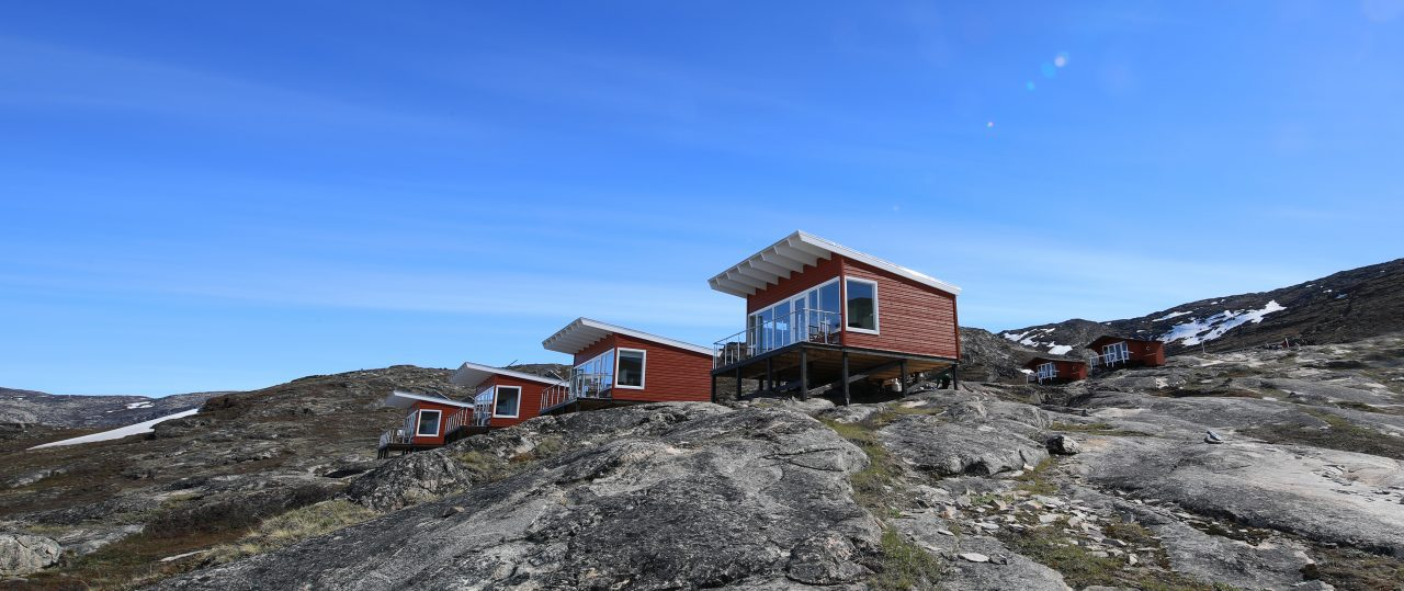 Comfort cabins at Eqi Lodge in Greenland - Photographer: Greenland Travel