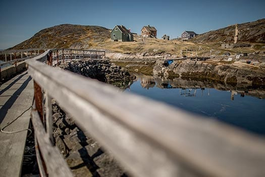 An Old Bridge In The Abandoned Village Kangeq Foto Visit Greenland