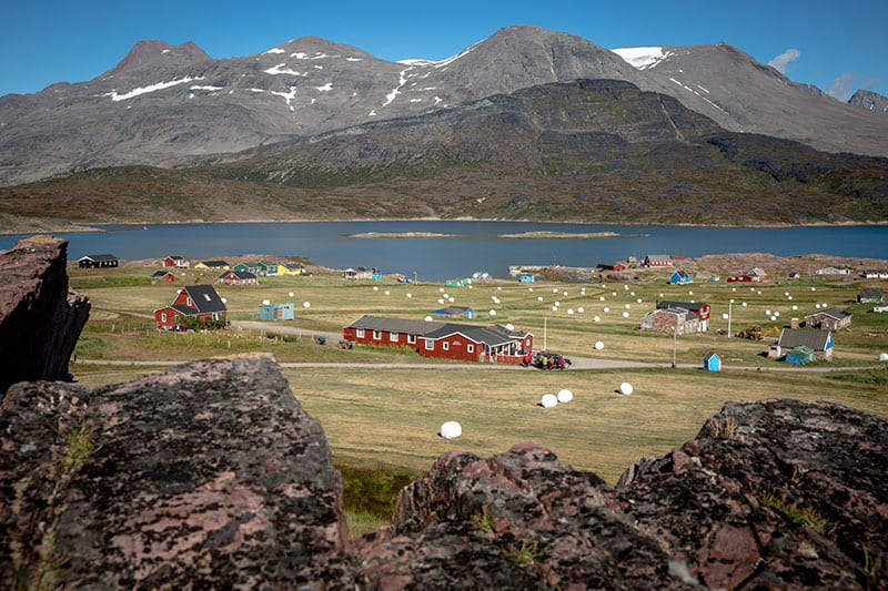 A Midday Summer View Over Igaliku In South Greenland